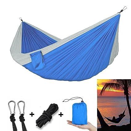 camping hammock double person ayamaya portable backpacking hammocks parachute nylon lightweight quick dry outdoor tree amazon    camping hammock double person ayamaya portable      rh   amazon