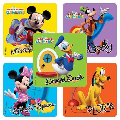 Disney Mickey Mouse Clubhouse Stickers - Party Favors - 100