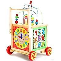 Saiyanshi Wooden Multipurpose 5 in 1 Educational Activity Box/ Wooden Cube Walker