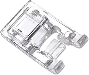 DREAMSTITCH 40110165 7mm Satin Stitch Presser Foot Transparent Buttonhole Foot for All Low Shank Snap On Singer,Brother,Babylock,Euro-Pro,Janome,Kenmore,White,Juki,New Home,Elna Sewing Machine
