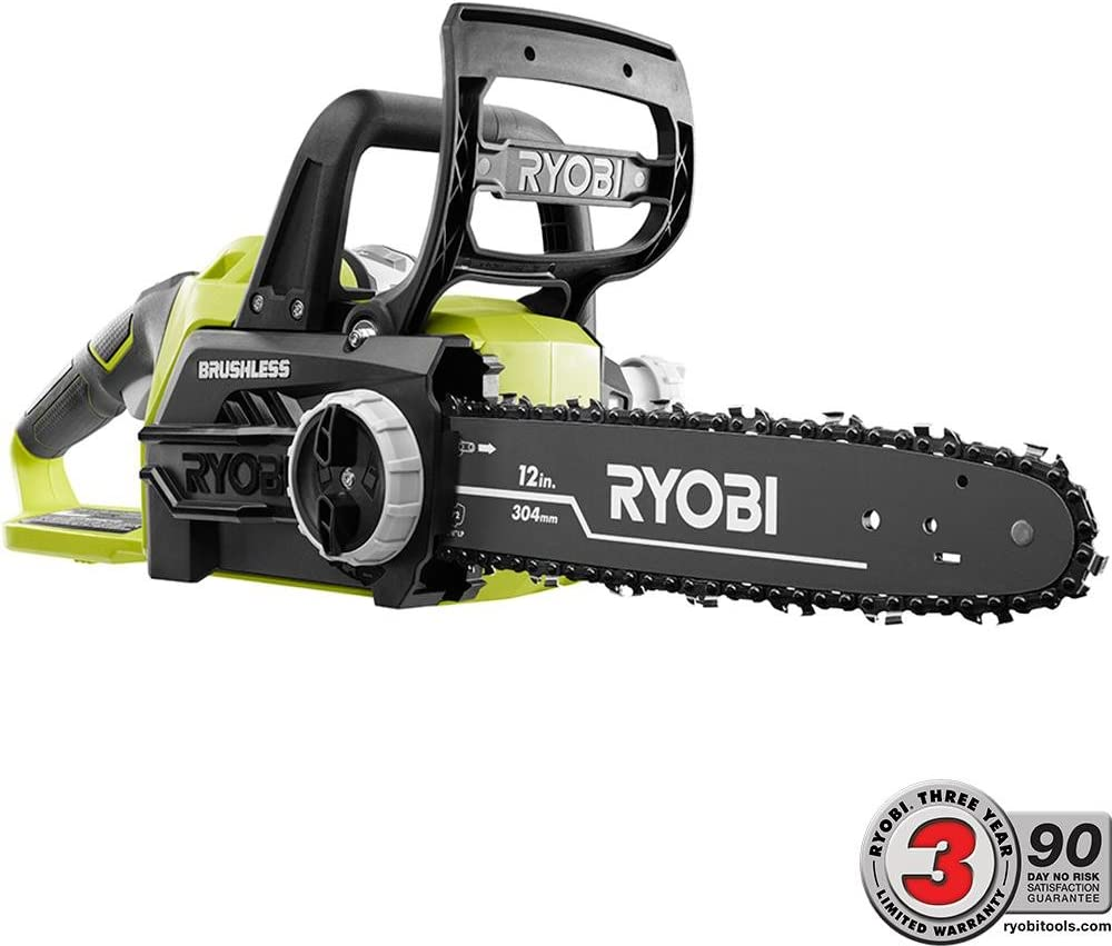 2. Ryobi ONE+ 12 in. 18-Volt Brushless Lithium-Ion Electric Cordless Chainsaw