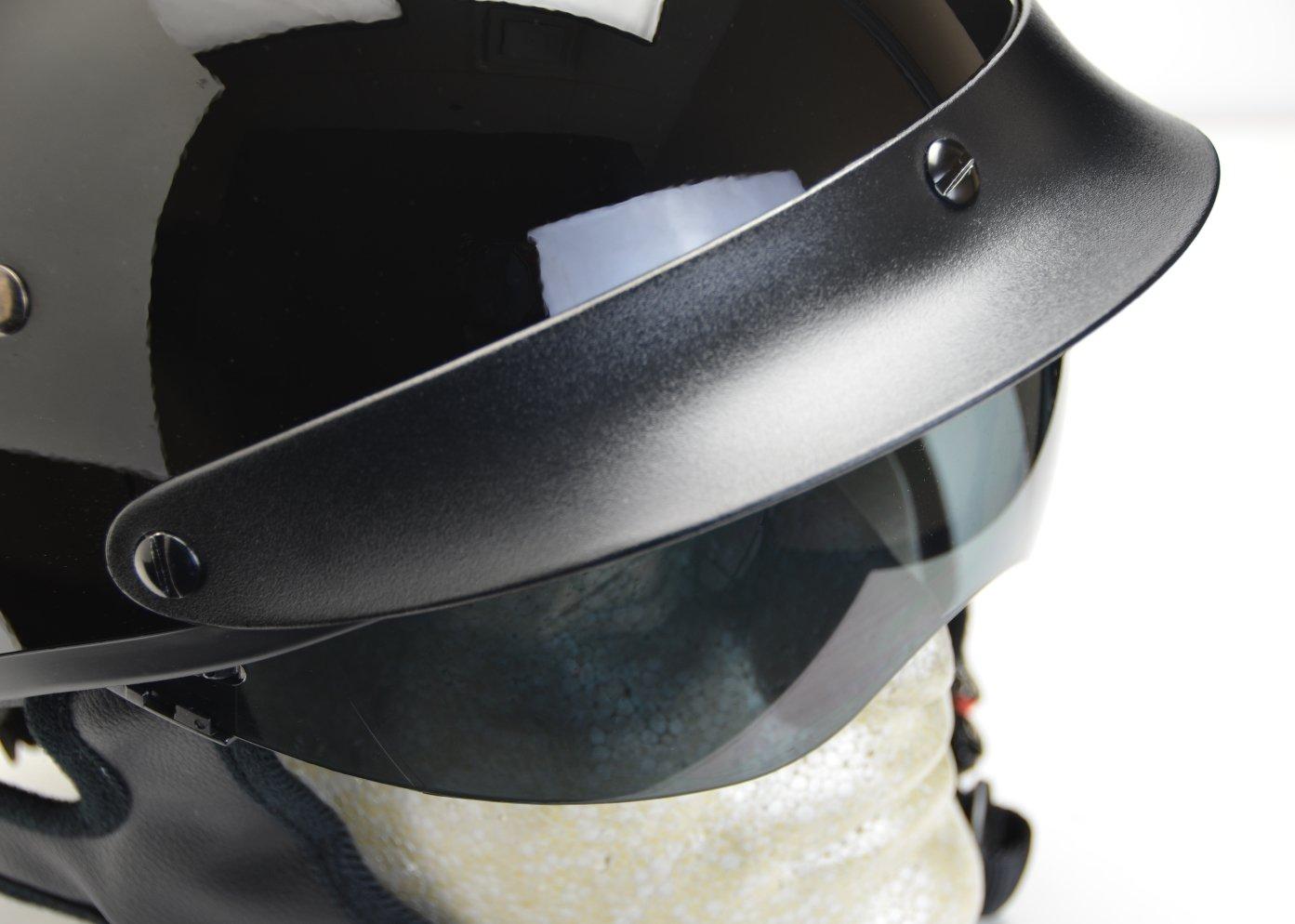 Large, Gloss Black Vega Helmets Warrior Motorcycle Half Helmet with Sunshield for Men /& Women Adjustable Size Dial DOT Half Face Skull Cap for Bike Cruiser Chopper Moped Scooter ATV