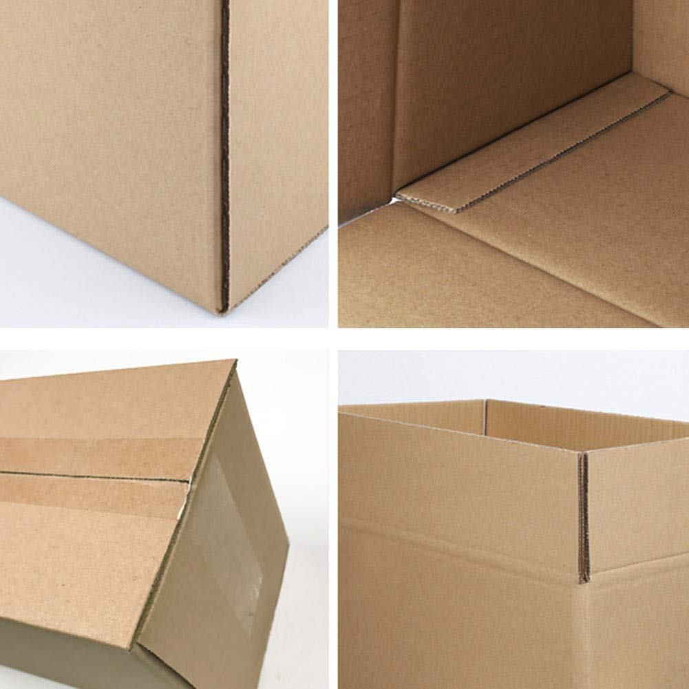 Amazon.com: KKCF Moving Boxes 10/20 per Pack Brown Shockproof Wear Resistant Mailing Storage Supplies Corrugated Box, 5 Sizes: Home & Kitchen