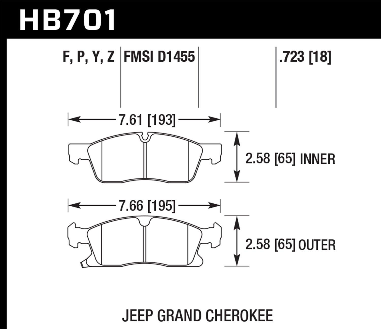 Hawk Performance HB701Y.723 Street Brake Pad by Hawk (Image #2)