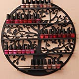 AISHN Nail Polish Rack Holder, Essential Oil Organizer, Wall Mounted 5 Tier Round Metal Salon Wall Art Display