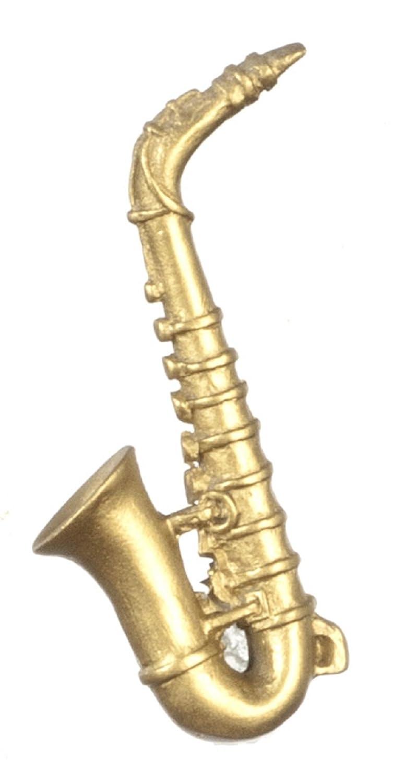 Dollhouse Miniature 1:12 Scale Saxophone #G7096 AZTEC IMPORTS