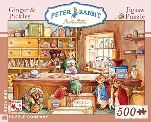New York Puzzle Company - Beatrix Potter Ginger & Pickles - 500 Piece Jigsaw Puzzle
