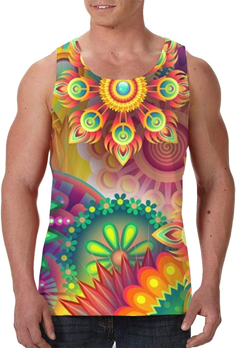 SHARP-Q Psychedelic Men Tank Vest Man Funny Tank Tops