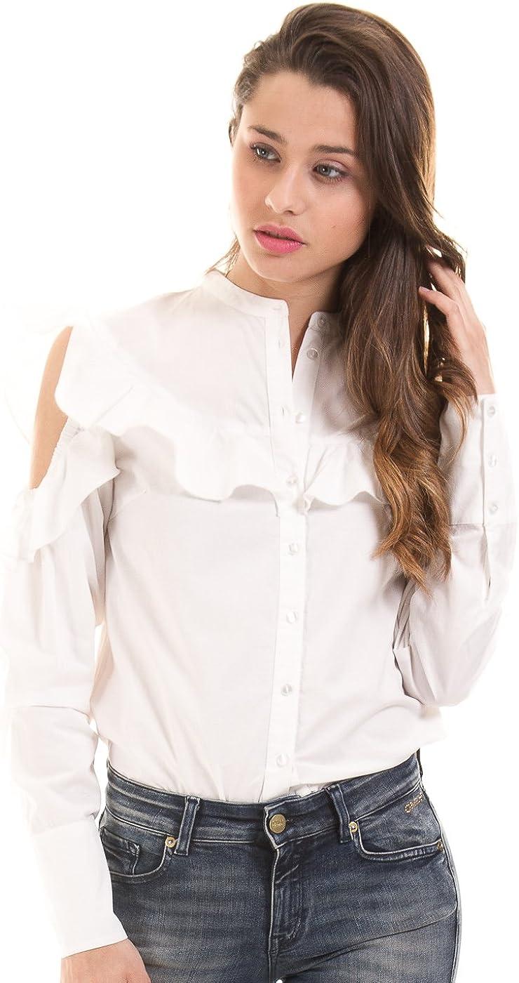 Vila Camisa Hombros Volantes Blanco ibicenco VINAVARO de Clothes: Amazon.es: Ropa y accesorios