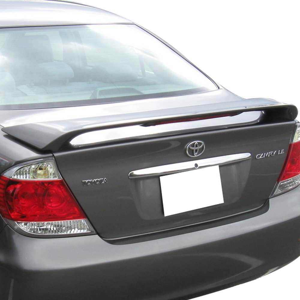 Amazon.com: Trunk Spoiler Fits 2002-2006 Toyota Camry | OE Style ABS  Unpainted Black With LED Brake Light Trunk Boot Lip Spoiler Wing Deck Lid  By IKON ...