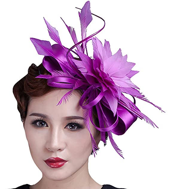 d48c555e25b Image Unavailable. Image not available for. Color  Fascigirl Flower  Fascinator Wedding Hair Clip Headpiece Cocktail Party Headwear