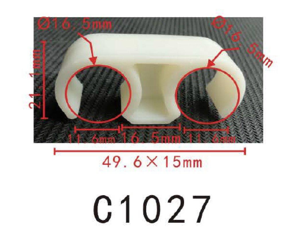 Varilla de cable de alambre telar clip de enrutamiento (ID: 16.3 mm (21/32