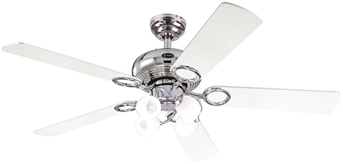 Westinghouse Helix Fusion Ceiling Fan   Chrome/Black/ White