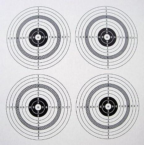 Zielscheiben 14 x 14 cm 10000 St/ück auf 5 Rollen inklusive 10 ShoXx shoot-club Schusspflaster wei/ß 19 mm selbstklebend