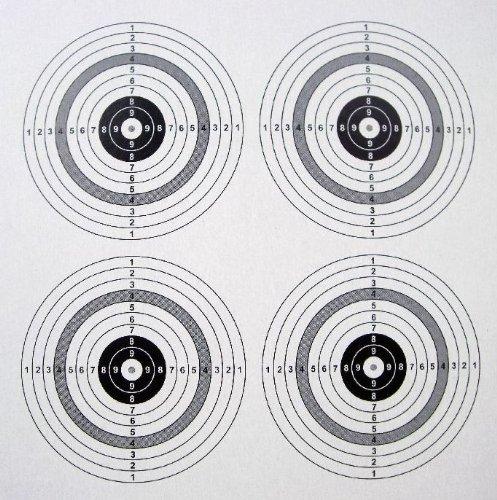 100 shoot-club Zielscheiben 14x14cm mit 4 Spiegeln und 250 g/m² - ShoXx.® Set shoot-club24