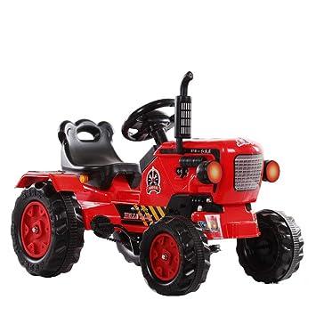 Aiya Dongfanghong Ride-en Tractor con Cargador y Remolque Desmontable Paseo eléctrico en Tractor para niños y niños: Amazon.es: Deportes y aire libre