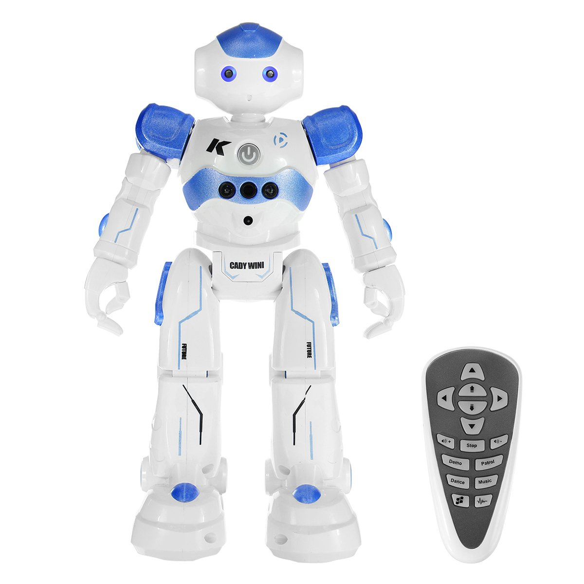 RC Robot for kids,REALACC USB Charging Dancing Gesture Control Robot Toy (Blue)