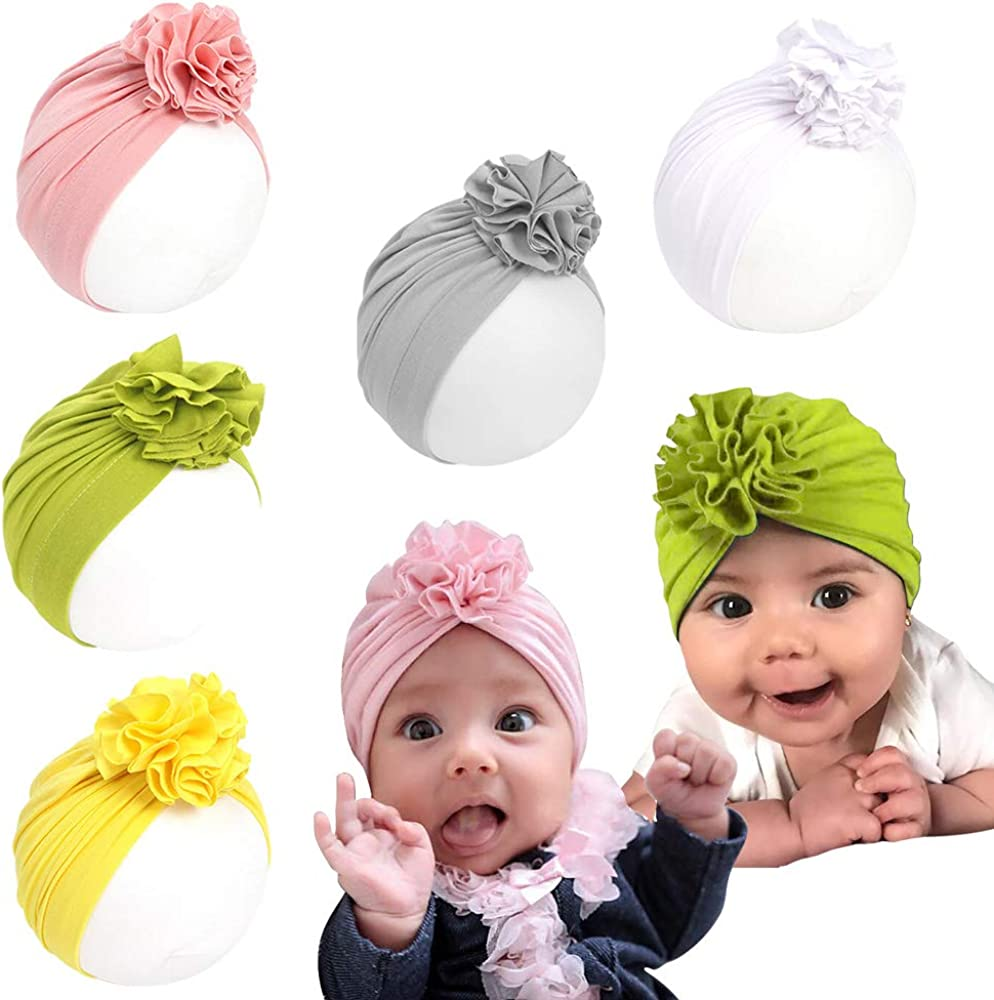 Newborn Baby Beanie Hats Infant Toddler Boys Girls Head Wrap Turban Cap Headband