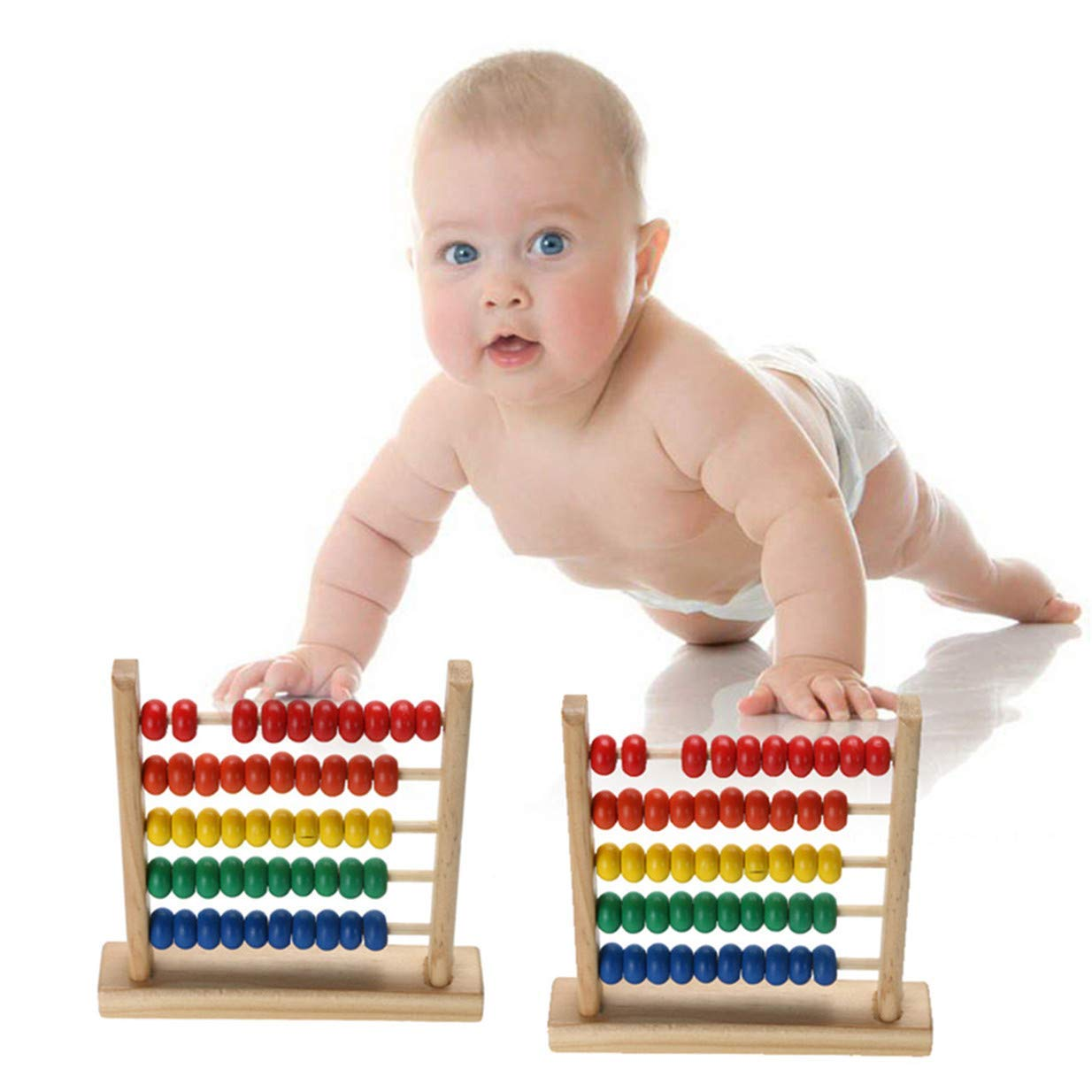 Xeminor Premium Mini Abacus Children Early Mathematics Learning Toy Numbers Counting Calculate Beads Educational Toys