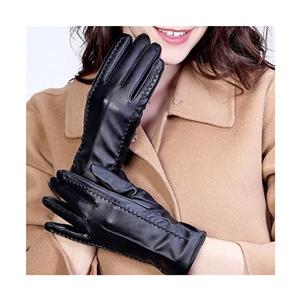 Long Keeper Women's Touchscreen Texting Driving Winter Warm PU Leather Gloves …