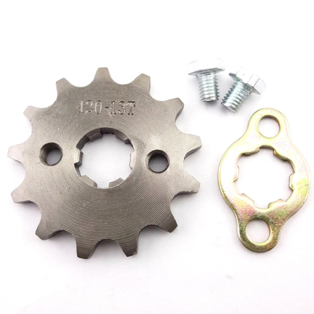Race-Guy 420 13 Tooth 17mm Front Chain Sprocket Gear 50cc 70cc 90cc 110cc 125cc 140cc 150cc 160cc Engine ATV Quad Pit Dirt Trail Bike