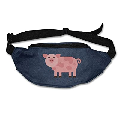 Alone Waist Bag Fanny Pack Pink Cartoon Pig Unisex Outdoor Sports Pouch Running Belt Fitness Travel Pocket Purse