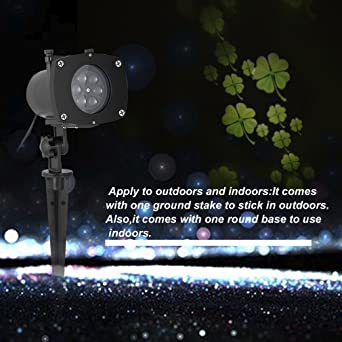 Luces de Proyector, Proyector Navidad LED Impermeable con 11 ...