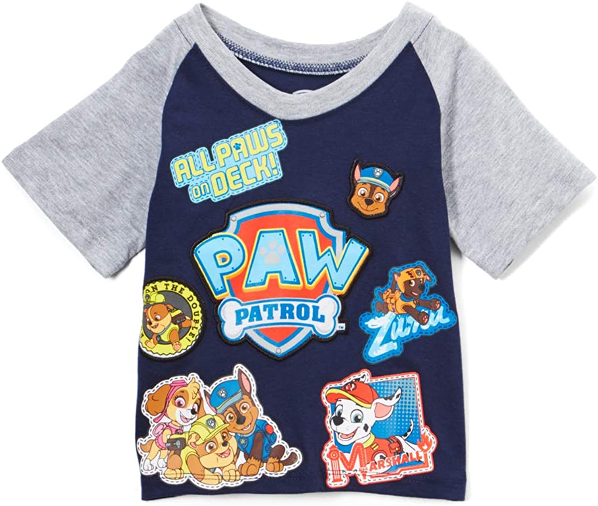 Paw Patrol Boys' Group Short Sleeve T-Shirt