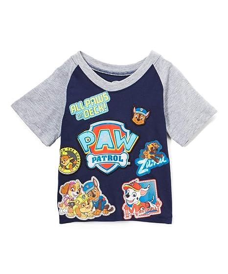 891f02c73a Nickelodeon Boys  Toddler Patrol All Paws On Deck Short Sleeve Raglan T- Shirt