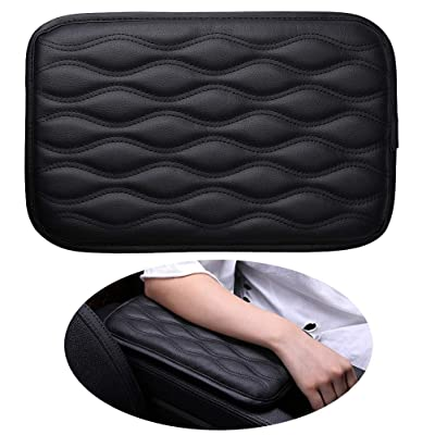 Pengxiaomei Center Console Pad, Black Car Armrest Pad Car Armrest Seat Box Cover Protector for Most Vehicle, SUV, Truck, Car: Automotive