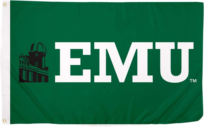 Style 6a Desert Cactus Eastern Michigan University EMU Eagles NCAA 100/% Polyester Indoor Outdoor 3 feet x 5 feet Flag