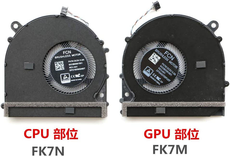 DXCCC XIAOMI Laptop CPU Cooler Fan for Xiaomi Pro 15.6 Laptop CPU Cooling Fan