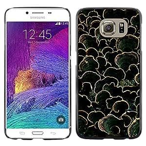 iKiki Tech / Estuche rígido - Nature Green Dark Pattern Summer - Samsung Galaxy S6 SM-G920