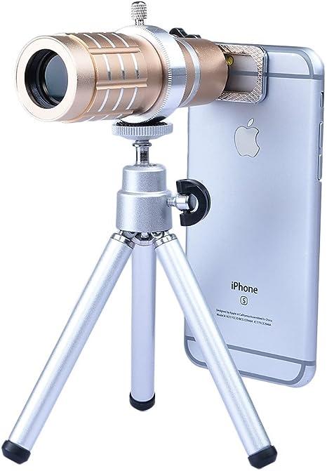 Apexel LX-12XU-SIL - Kit de Lente de cámara con Mini trípode para ...