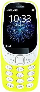 "Nokia 3310 3G - Unlocked Single SIM Feature Phone (AT&T/T-Mobile/MetroPCS/Cricket/Mint) - 2.4"" Screen - Yellow - U.S. Warranty"