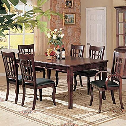 Amazon.com   Coaster Contemporary Dining Table With A Rich Cherry Finish    Tables