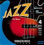 Thomastik-Infeld JF344 Bass Guitar Strings: Jazz Flat Wounds 4-String Long Scale Set; Pure Nickel Flats G, D, A, E Set