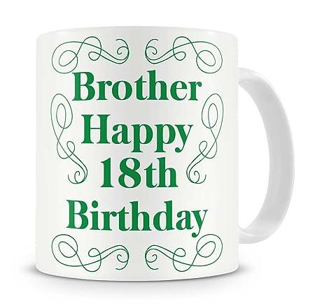 Brother Happy 18th Birthday Mug