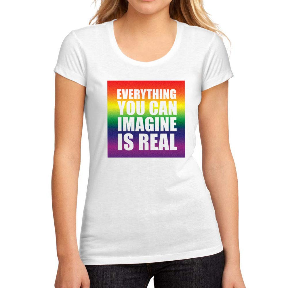 b79d5c0614 Women s Graphic T-Shirt Everything You can Imagine is Real White at ...