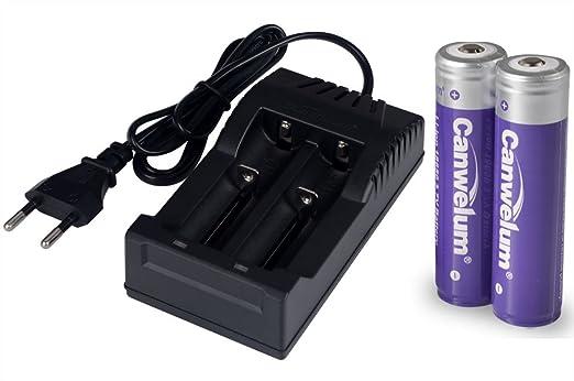 214 opinioni per Canwelum- Caricabatteria e Batterie Litio 18650 3,7 V, Batteria Ricaricabili