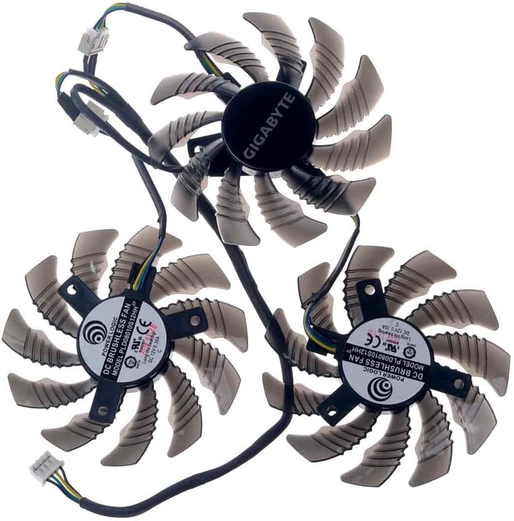 PLD08010S12HH 75mm DC 12V 0.35A 40mm 4Pin Replacement Graphics Video Card PC Cooling Fan