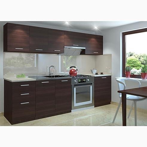 JUSTyou Economy Küchenzeile Küchenblock Küche 240 cm Länge Farbe ...