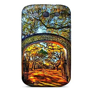 Durable Defender Cases For Galaxy S3 Tpu Covers(gate To Your Golden World)