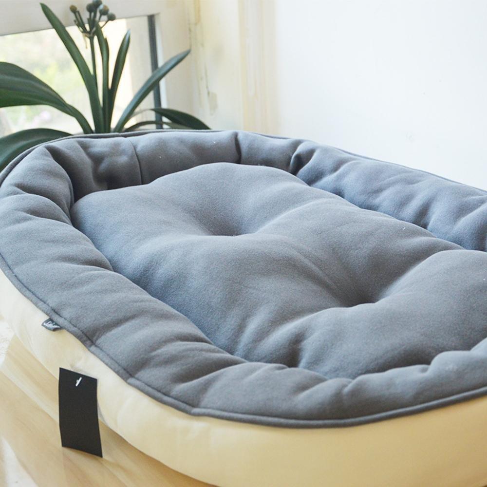 Biute Cattura cani gatto letto cotone Pet Letto Impermeabile rimovibile divano indietro Nest cane Matte Kennel lettiera Pet fornisce caffè Marroneee mais velluto