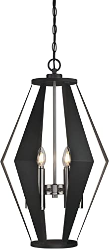 Westinghouse Lighting 6367700 Coltin Six-Light Indoor Chandelier, Matte Black Finish with Dark Pewter Accents