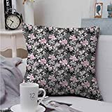 AndyTours Double-Sided Printing Throw Pillowcase Butterfly Romantic Summertime for Sofa Bedroom Car 24