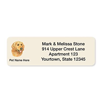 amazon com golden retriever set of 215 sheeted address labels
