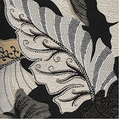 Jacquard Colbie Black Home Decorating Fabric, Fabric Sold By the Yard
