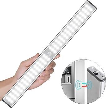 Luces de gabinete con sensor de movimiento,luces inal/ámbricas debajo del armario,bater/ía recargable incorporada,iluminaci/ón nocturna magn/ética para colocar en cualquier lugar para armario de cocina