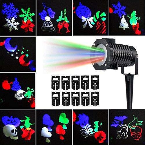 Party Projection Lights Led Projector Light, Kohree Outdoor Light Snowflake Spotlight 10 (Christmas Projector Light)